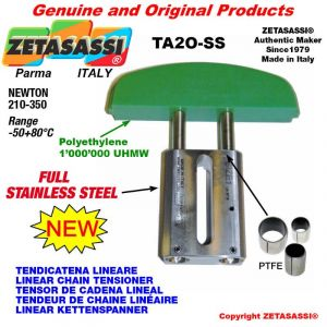 """TENSOR DE CADENA LINEAL completamente de acero inoxidable 12B1 3/4""""x7/16"""" simple Newton 210-350"""