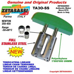 """LINEAR CHAIN TENSIONER Completely in stainless steel 20B1 1""""1/4x3/4"""" simple Newton 250-450"""