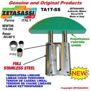 TENDICATENA LINEARE Completamente in acciaio inox 08A3 ASA40 tripla Newton 110-240