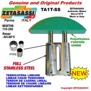 """LINEAR CHAIN TENSIONER Completely in stainless steel 08B3 1/2""""x5/16"""" triple Newton 110-240"""