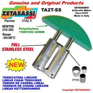 TENDICATENA LINEARE Completamente in acciaio inox 10A3 ASA50 tripla Newton 210-350