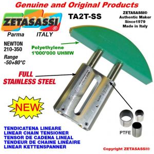 """LINEAR CHAIN TENSIONER Completely in stainless steel 10B3 5/8""""x3/8"""" triple Newton 210-350"""