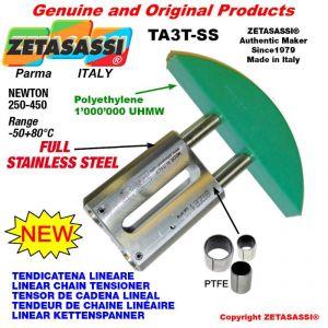 """TENDEUR DE CHAINE LINÉAIRE entièrement en acier inoxydable 16B1 1""""x17mm simple Newton 250-450"""