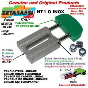 Tendicatena lineare NT serie inox 08A1 ASA40 semplice Newton 110-240