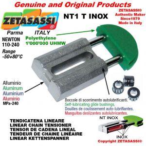"Tendicatena lineare NT serie inox < 08B1 1/2""x5/16"" semplice Newton 110-240"