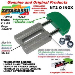 "Tendicatena lineare NT serie inox 10B1 5/8""x3/8"" semplice Newton 210-350"