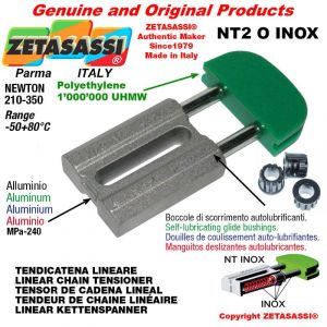 CHAIN TENSIONER type INOX 10A2 ASA50 double Newton 210-350