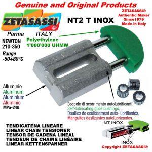 Tendicatena lineare NT serie inox 12A1 ASA60 semplice Newton 210-350