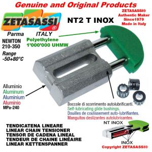 "Tendicatena lineare NT serie inox 12B1 3/4""x7/16"" semplice Newton 210-350"