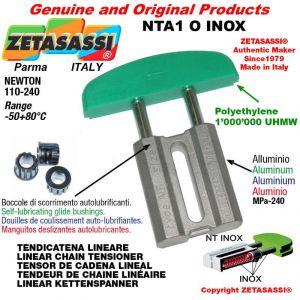 "Tendicatena lineare NT serie inox 06B1 3/8""x7/32"" semplice Newton 110-240"