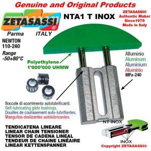 Tendicatena lineare NT serie inox 08A3 ASA40 triplo Newton 110-240