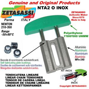 Tendicatena lineare NT serie inox 10A2 ASA50 doppio Newton 210-350