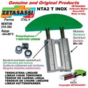 "Tendicatena lineare NT serie inox 12B2 3/4""x7/16"" doppio Newton 210-350"