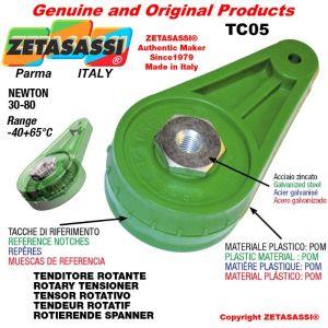 TENSOR ROTATIVO TC05 rosca M8x1,25 mm para la fijación de accesorios Newton 30-80