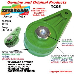 DREH SPANNELEMENTE TC05 mit Bohrung Ø8,5mm zur Anbringung von Zubehör Newton 30-80
