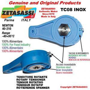 DREH SPANNELEMENTE TC08INOX Typ INOX mit Gewinde M8x1,25 zur Anbringung von Zubehör Newton 40-210