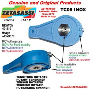 TENSOR ROTATIVO TC08INOX tipo INOX agujero Ø10,5mm para la fijación de accesorios Newton 40-210