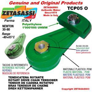 """TENSOR DE CADENA ROTATIVO TCP05O 06B2 3/8""""x7/32"""" doble Newton 30-80"""