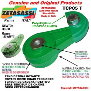 "Tendicatena rotante TCP05T < 08B1 1/2""x5/16"" semplice Newton 30-80"