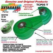 "TENSOR DE CADENA ROTATIVO TCP05T 08B1 1/2""x5/16"" simple Newton 30-80"