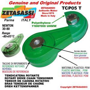 """DREH KETTENSPANNER TCP05T 08B1 1/2""""x5/16"""" Einfach Newton 30-80"""