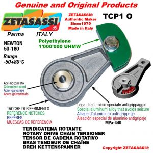"""TENSOR DE CADENA ROTATIVO TCP1O con engrasador < 08B1 1/2""""x5/16"""" simple Newton 50-180"""