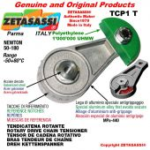 """Tendicatena rotante TCP1T con ingrassatore 12B3 3/4""""x7/16"""" triplo Newton 50-180"""