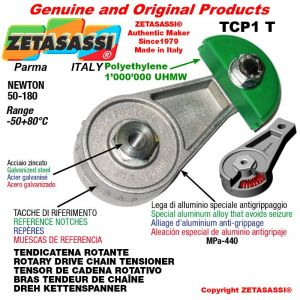 "DREH KETTENSPANNER TCP1T mit Schmierer 06B1 3/8""x7/32"" Einfach Newton 50-180"