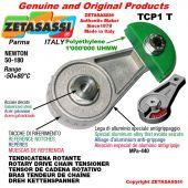 """Tendicatena rotante TCP1T con ingrassatore 08B3 1/2""""x5/16"""" triplo Newton 50-180"""