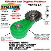 "TENDICATENA ROTANTE TCR05AC con pignone tendicatena semplice 06B1 3\8""x7\32"" Z21 Newton 30-80"