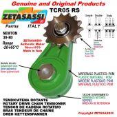 "TENDICATENA ROTANTE TCR05RSRDRT con pignone tendicatena 06B1 3\8""x7\32"" semplice Z15 Newton 30-80"