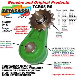 """ROTARY DRIVE CHAIN TENSIONER TCR05RSRDRT with idler sprocket 06B1 3\8""""x7\32"""" Z15 Newton 30-80"""