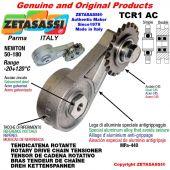 """TENSOR DE CADENA ROTATIVO TCR1AC con engrasador con piñon tensor simple 08B1 1\2""""x5\16"""" Z14 Newton 50-180"""