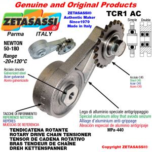 """ROTARY DRIVE CHAIN TENSIONER TCR1AC wiht greaser with idler sprocket simple 06B1 3\8""""x7\32"""" Z21 Newton 50-180"""
