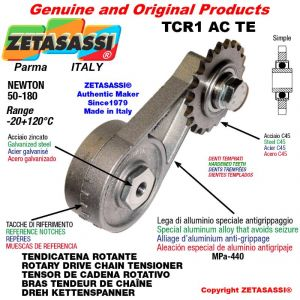 """ROTARY DRIVE CHAIN TENSIONER TCR1ACTE with idler sprocket simple 10B1 5\8""""x3\8"""" Z17 hardened Newton 50-180"""