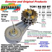 "Tendicatena rotante TCR1RSRDRT con ingrassatore con pignone tendicatena 16B2 1""x17 doppio Z12 Newton 50-180"