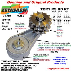 "DREH KETTENSPANNER TCR1RSRDRT mit Schmierer mit Kettenrad 08B2 1\2""x5\16"" Doppel Z15 Newton 50-180"