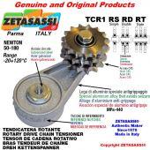 "Tendicatena rotante TCR1RSRDRT con ingrassatore con pignone tendicatena 20B2 1""¼x3\4"" doppio Z9 Newton 50-180"
