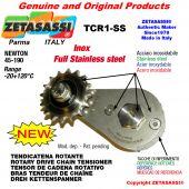 """Tendicatena rotante TCR1-SS in acciaio inox con pignone tendicatena 06B1 3\8""""x7\32"""" Z21 acciaio inox Newton 45-190"""