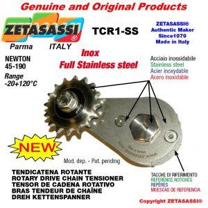 """Tendicatena rotante TCR1-SS in acciaio inox con pignone tendicatena 16B1 1""""x17 Z12 acciaio inox Newton 45-190"""
