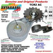 "Tendicatena rotante TCR2AC con pignone tendicatena doppio 06B2 3\8""x7\32"" Z21 Newton 120-500"