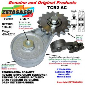 """ROTARY DRIVE CHAIN TENSIONER TCR2AC with idler sprocket simple 08B1 1\2""""x5\16"""" Z14 Newton 120-500"""