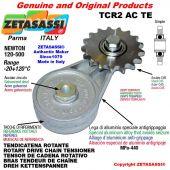 "Tendicatena rotante TCR2ACTE con pignone tendicatena semplice 16B1 1""x17 Z12 temprati Newton 120-500"