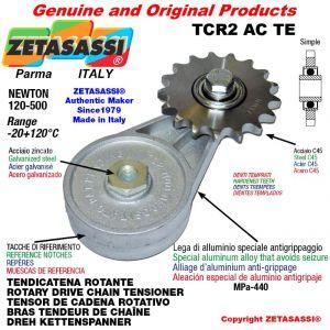 """BRAS TENDEUR DE CHAÎNE TCR2ACTE avec pignon tendeur simple 10B1 5\8""""x3\8"""" Z17 trempées Newton 120-500"""