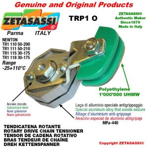 "ROTARY DRIVE CHAIN TENSIONER TRP1O 16B1 1""x17mm simple Lever 110 (Newton 50:200)"