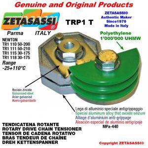 "Tendicatena rotante TRP1T 06B1 3/8""x7/32"" semplice Leva 111 Newton 50:210"