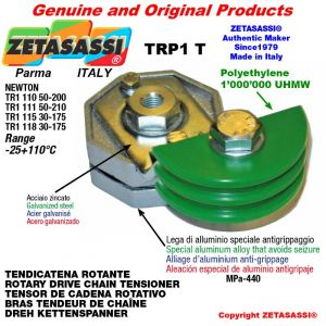 Tendicatena rotante TRP1T 08A1 ASA40 semplice Leva 110 Newton 50:200