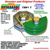 "Tendicatena rotante TRP1T 08B1 1/2""x5/16"" semplice Leva 115 Newton 30:175"