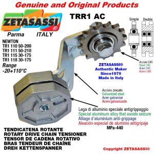 """BRAS TENDEUR DE CHAINE TRR1AC avec pignon tendeur simple 16B1 1""""x17 Z12 Levier 111 Newton 50:210"""
