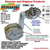 "Tendicatena rotante TRR1AC con pignone tendicatena doppio 08B2 1\2""x5\16"" Z16 Leva 118 Newton 30:175"